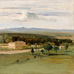 Part 5 Louvre - Edouard Cibot -- View of Rome: The Orangerie of the Villa Borghese seen from the Villa Medicis