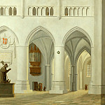 Part 5 Louvre - Pieter Jansz. Saenredam (1597-1665) -- Interior of the Church of Saint Bavo at Haarlem
