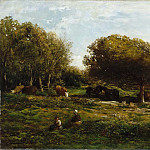 Part 5 Louvre - Charles François Daubigny -- The Graves of Villerville, also called Pasture with a View of the Sea