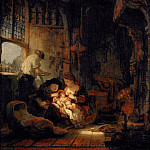 Part 5 Louvre - Rembrandt van Rijn -- Holy Family (Household of the Carpenter)