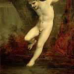 Young Zephyr Swinging Above the Water, study, Pierre-Paul Prudhon