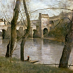 The Bridge of Mantes, Jean-Baptiste-Camille Corot