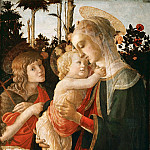 Part 5 Louvre - Sandro Botticelli (1444 or 1445-1510) -- Madonna and Child with Saint John the Baptist