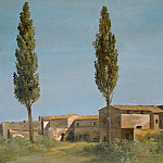 Part 5 Louvre - Pierre Henri de Valenciennes -- At the Villa Farnese: The Two Poplars