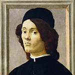 Part 5 Louvre - Sandro Botticelli (1444 or 1445-1510) -- Portrait of a Young Man