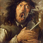 Part 5 Louvre - Josse van Craesbeeck -- The Smoker (portrait of the artist?)
