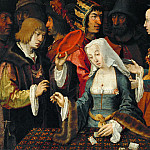 Part 5 Louvre - Lucas van Leyden -- The Fortune Teller, with a Fool