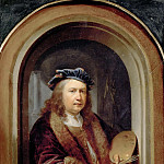 Part 5 Louvre - Gerrit Dou -- Self Portrait with a Palette, in a Niche