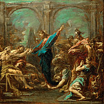 Part 5 Louvre - Alessandro Magnasco -- Christ Heals the Paralytic