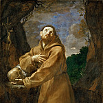 Guido Reni -- Saint Francis in Meditation, or Saint Francis in Ecstacy, Part 5 Louvre