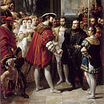 Part 5 Louvre - Alexandre Marie Colin -- Charles V received at the Louvre by Francis I