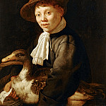 Jacob Gerritsz. Cuyp -- Boy with Duck, Part 5 Louvre