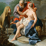 Part 5 Louvre - Giovanni Battista Pittoni the Younger (1687-1767) -- Susannah and the Elders