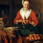 Part 5 Louvre - Gabriel Metsu -- The Apple Peeler
