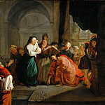 Gabriel Metsu -- Christ and the Adulteress, Part 5 Louvre