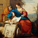 Laurent de La Hyre -- Rest on the Flight into Egypt, Part 5 Louvre