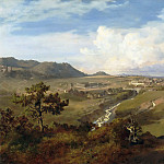 Part 5 Louvre - Eugenio Landesio -- View of a Valley in Mexico, with a Town in the Distance