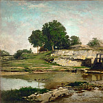 Part 5 Louvre - Charles François Daubigny -- The Sluice at Optevoz, Isere