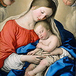 Part 5 Louvre - Sassoferrato (1609-1685) -- Sleep of the Infant Jesus
