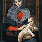 Piero di Cosimo -- Madonna and Child with a Dove, Part 5 Louvre