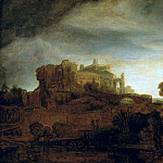 Part 5 Louvre - Rembrandt van Rijn -- Landscape with a Castle