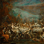 Part 5 Louvre - Alessandro Magnasco -- Wedding Banquet of Bohemians