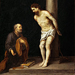 Part 5 Louvre - Bartolomé Estebán Murillo -- Christ at the Column with Saint Peter