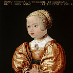 Jacob Seisenegger - Portrait of Anna of Austria , Aged Two, Mauritshuis