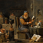 David Teniers the Younger - The Alchemist, Mauritshuis