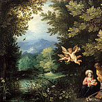 Jan Brueghel the Elder, Hans Rottenhammer - Rest on the Flight into Egypt, Mauritshuis