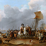 Mauritshuis - Ludolf Bakhuysen - The Arrival of Stadholder-King Willem III (1650- 1702) in the Oranjepolder on 31 January 1691