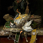Willem van Aelst - Still Life with Partridges, Mauritshuis