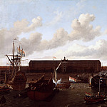 Ludolf Bakhuysen - The Shipyard of the Dutch East India Company at Amsterdam, Mauritshuis
