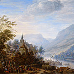 Herman Saftleven - View of the Rhine at Reineck, Mauritshuis