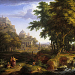 Arcadian Landscape with Saints Peter and John Healing the Lame Man, Jan Van Huysum
