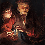 Old Woman and Boy with Candles, Peter Paul Rubens