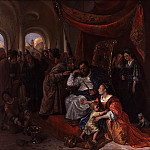 Jan Steen - Moses and Pharaoh's Crown, Mauritshuis