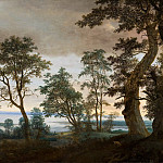 Cornelis Vroom - River Landscape, seen through the Trees, Mauritshuis