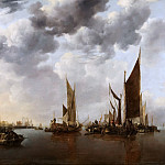 Jan van de Cappelle - Seascape with Ships, Mauritshuis