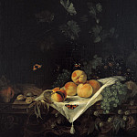 Abraham van Calraet - Still Life with Peaches and Grapes, Mauritshuis
