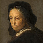 Rembrandt van Rijn - Study of an Old Woman, Mauritshuis