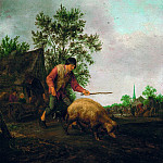 Mauritshuis - Isack van Ostade - Farmer with a Pig
