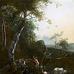 Adam Pijnacker - Mountainous Landscape with Waterfall, Mauritshuis