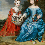 Mauritshuis - Gerrit van Honthorst - Double Portrait of Prince Willem III (1650- 1702) and his Aunt Maria, Princess of Orange (1642-1688), as Children