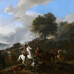 Mauritshuis - Jan van Huchtenburgh - Ambushing a Convoy