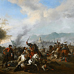 Jan van Huchtenburgh - Cavalry Engagement, Mauritshuis