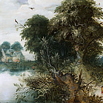 Mauritshuis - Abraham Govaerts - Forest View with Travellers