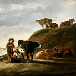 Aelbert Cuyp - Cattle by a River, Mauritshuis