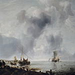 Jan van de Cappelle - Ships off the Coast, Mauritshuis