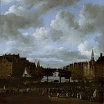 Jacob van Ruisdael - View of the Dam and the Damrak in Amsterdam, Mauritshuis